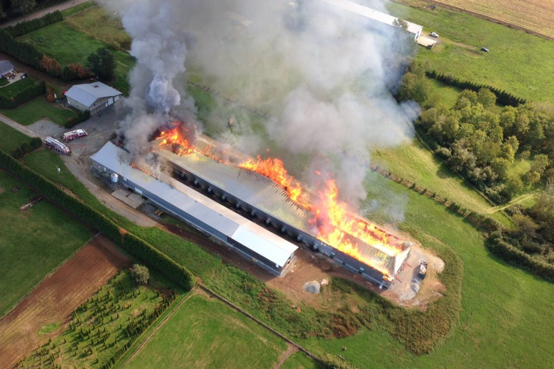 Bradner Barn Fire