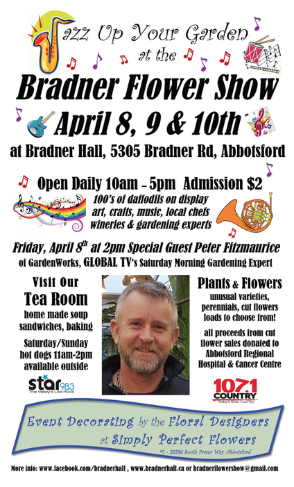 2016 Bradner Flower show Bradner Hall Star 98.3 107.1 Country Global TV Gardening Expert Peter Fitzmaurice